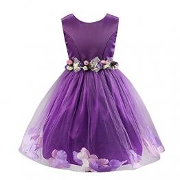 JYou Kinder Mädchen Prinzessin-Kleid A-Linie, Violett Gr. 134/140( Herstellergröße: 140) - 1
