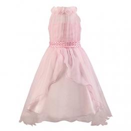 Katara 1480 - Schleier Blumen Mädchen festliches Abend Kleid, 146/152, rosa - 1