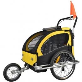 Kinderanhänger mit Jogger Fahrradanhänger Anhänger 2 in1 502-04 - 1