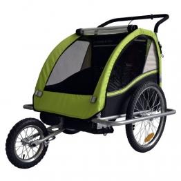 Kinderfahrradanhänger Fahrradanhänger Kinder-Fahrrad-Jogger 2in1 602-D02 Farbe: LEMON - 1