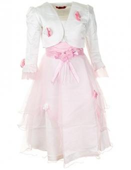 Mädchen Fest Kleid in Verschiedenen Ausführungen (10 / 128 / 134, #295 Rosa) - 1