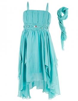 Mädchen Fest Kleid in vielen Farben (134, #105 Mint Grün) - 1