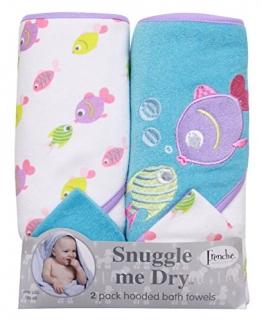 Mädchen Fisch Design: 2 Pack stricken Terry Towel, 76x66 cm und 2 Waschlappen - 1
