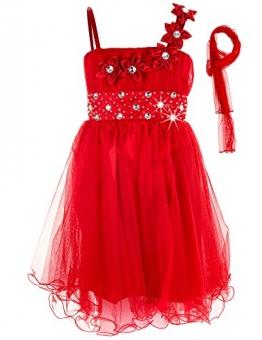 Mädchen Kommunions Kleid, Festkleid (140, #78 rot) - 1