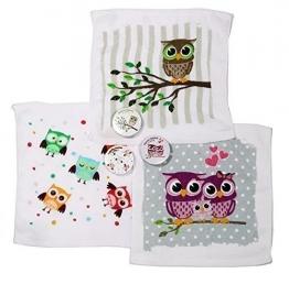 Magisches Handtuch 3er Eule Magic Towel Owl Waschlappen - 1
