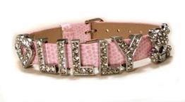 Motiv Armband mit Prägung für Frauen und Mädchen ab 12J - 1,0m Bandbreite - Rosa - 1