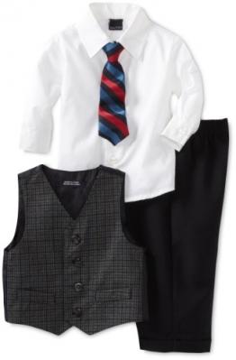Nautica Kinder Baby festlicher Anzug Weste Hemd Hose Kravatte (92) - 1