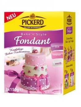 Pickerd Fondant weiß, rosa, lila, 2er Pack (2 x 450 g) - 1