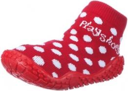 Playshoes Aqua-Socke Punkte 174803, Mädchen Dusch- & Badeschuhe, Rot (rot 8), EU 22/23 - 1