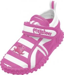 Playshoes Aquaschuhe, Badeschuhe Krebs mit höchstem UV-Schutz nach Standard 801 174782, Mädchen Aqua Schuhe, Pink (original 900), EU 24/25 - 1