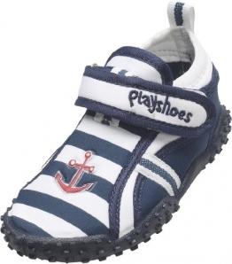 Playshoes Aquaschuhe, Badeschuhe Maritim mit höchstem UV-Schutz nach Standard 801 174781, Jungen Aqua Schuhe, Blau (original 900), EU 24/25 - 1