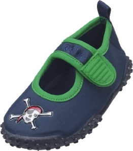 Playshoes Aquaschuhe, Badeschuhe Pirat mit höchstem UV-Schutz nach Standard 801 174785, Jungen Aqua Schuhe, Blau (original 900), EU 24/25 - 1