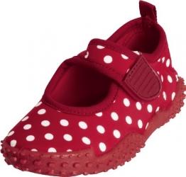 Playshoes Aquaschuhe, Badeschuhe Punkte mit höchstem UV-Schutz nach Standard 801 174776, Mädchen Aqua Schuhe, Rot (original 900), EU 22/23 - 1