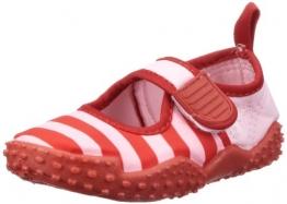 Playshoes Aquaschuhe, Badeschuhe Streifen mit höchstem UV-Schutz nach Standard 801 174795, Mädchen Aqua Schuhe, Rot (rot/rosa 788), EU 20/21 - 1