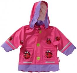 Playshoes Baby - Mädchen Regenbekleidung 408583 Regenmantel / Regenjacke Glückskäfer von Playshoes, Gr. 80, Rosa (900 original) - 1