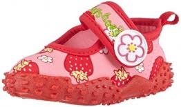 Playshoes Badeschuhe Erdbeeren mit höchstem UV-Schutz nach Standard 801 174757, Mädchen Aqua Schuhe, Pink (original 900), 24/25 EU - 1