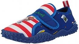 Playshoes Badeschuhe Pirateninsel mit höchstem UV-Schutz nach Standard 801 174760, Jungen Aqua Schuhe, Blau (original 900), 22/23 EU - 1