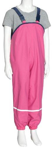 Playshoes Fleece-Regen-Latzhose 408622 Unisex - Kinder Hosen/ Lang, Gr. 104, Rosa (pink 18) - 1
