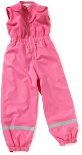 Playshoes Jungen Latzhose Regenhose mit Fleece Latz, Pink (18 pink ), 128 - 1