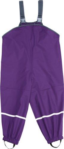 Playshoes Mädchen Regenhose Regenlatzhose mit Textilfutter, Gr. 128, Violett (lila 19) - 1