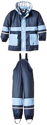 Playshoes Regen-Anzug 408699 Unisex - Kinder Regenmntel, Gr. 128 Blau (marine/ hellblau 639) - 1