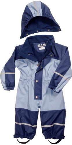 Playshoes Unisex - Baby Babybekleidung/ Overalls Babyoverall mi Fleece-Futter 405400, Gr. 92, Blau (639 marine/hellblau) - 1