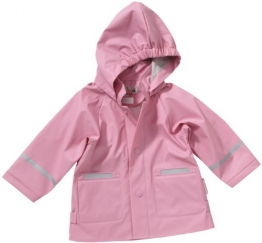 Playshoes Unisex - Baby Regenbekleidung 408638 Regenjacke Basic, Gr. 80, Rosa (14 rose) - 1