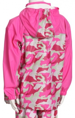 Playshoes Unisex - Kinder Kurzmantel, Camouflage Regen-Mantel Camouflage 408552, Gr. 116, Pink(18 pink) - 1