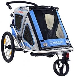 Qeridoo Kinderfahrradanhänger Speedkid2, Blau, Q200A - 1