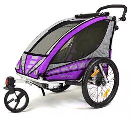 Qeridoo Kinderfahrradanhänger Sportrex1, Violet, Q3000A - 1