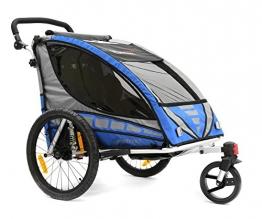 Qeridoo Kinderfahrradanhänger Sportrex2, Blau, Q6000A - 1