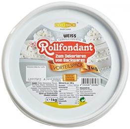 Rollfondant Weiß 1 Kg inkl. Vorratsdose - 1