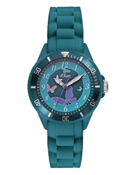 s.Oliver Mädchen-Armbanduhr Analog Quarz Silikon SO-2597-PQ - 1