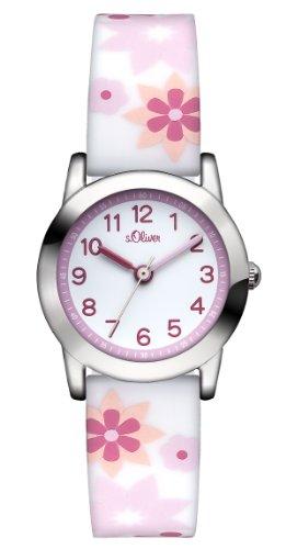 s.Oliver Mädchen-Armbanduhr Analog Quarz Silikon SO-2898-PQ - 1