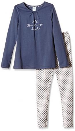 Sanetta Mädchen Zweiteiliger Schlafanzug 243529, Gr. 164, Blau (admiral 5374) - 1