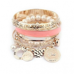 Sannysis 1 Sets Korean Fashion New Style Mädchen Exquisite Münzen-Perlen-Armband-Schmuckhohl - 1