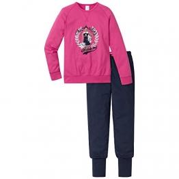 Schiesser Mädchen Zweiteiliger Schlafanzug Anzug lang, Gr. 164, Rot (pink 504) - 1