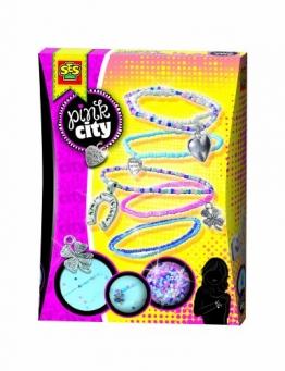 SES 14322 - Glücksarmbänder Pink City - 1