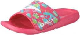 Speedo Atami Seasquad Slide 8074276992, Unisex - Kinder, Sandalen/Bade-Sandalen, Pink  (pink/green), EU 37  (US 4) - 1