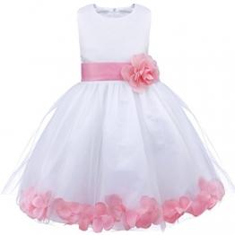 Tiaobug Blumenmädchen Kleid Mädchen Hochzeit Festlich Kinder Kleidung 92 98 104 110 116 128 140 152 Rosa 128 - 1