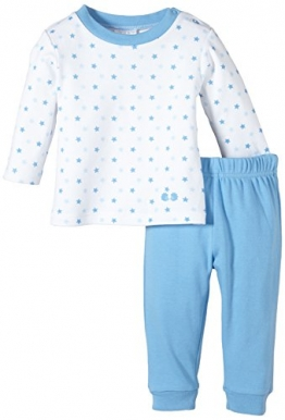 Twins Baby - Jungen 2-teiliger Schlafanzug mit Sternchen-Oberteil, Mehrfarbig, Gr. 98, Blau (16-4132 - little boy blue) - 1