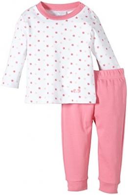 Twins Baby - Mädchen 2-teiliger Schlafanzug mit Sternchen-Oberteil, Mehrfarbig, Gr. 74, Rosa (morning glory) - 1