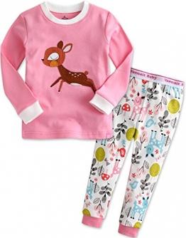 Vaenait Baby Kinder Mädchen Nachtwäsche Schlafanzug-Top Bottom 2 Stuck Set Mini Bambi L - 1