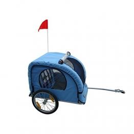 vidaXL Fahrradanhänger für Kinder blau - 1