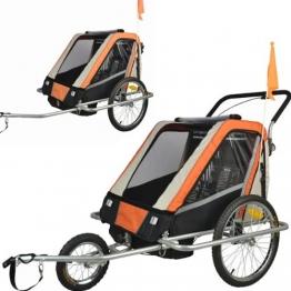 Vollgefederter Kinderfahrradanhänger Exclusiv Modell 2016 NEU Fahrradanhänger Kinderanhänger 503-03 - 1