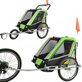 Vollgefederter Kinderfahrradanhänger Exclusiv Modell 2016 NEU Fahrradanhänger Kinderanhänger 503-04 LEMON - 1