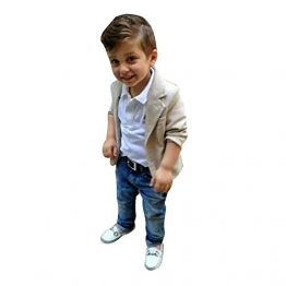West See 3pcs Kinder Jungen Gentleman Mantel + Hemd + Jeanshosen Kinderkleidung Kleidungsset Suit (110) - 1