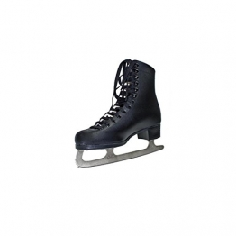 Herren Schlittschuhe Eiskunstlauf Leder schwarz Gr 36 - 1