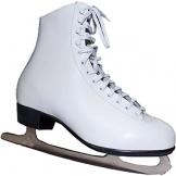 Schlittschuhe Eiskunstlauf Leder Gr. 35 36 weiß Mädchen Kinder Ice Skates - 1
