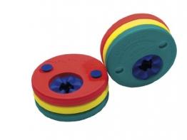 Fashy Kinder Delphin-Schwimmscheiben, rot-gelb-grün, 4291 - 1